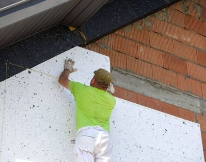 Insulating a building with polystyrene - step by step manual