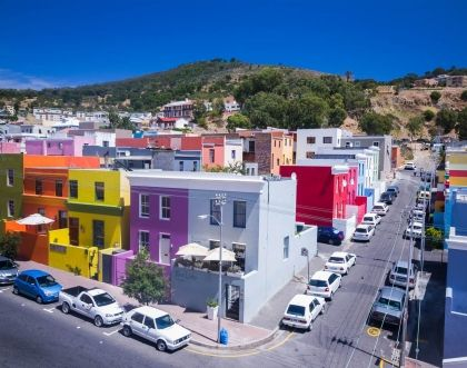 A South African colour explosion, i.e. colourful houses in Cape Town