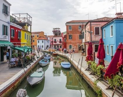 Colourful Italian towns - Cinque Terre, Positano, Burano and Portofino architecture
